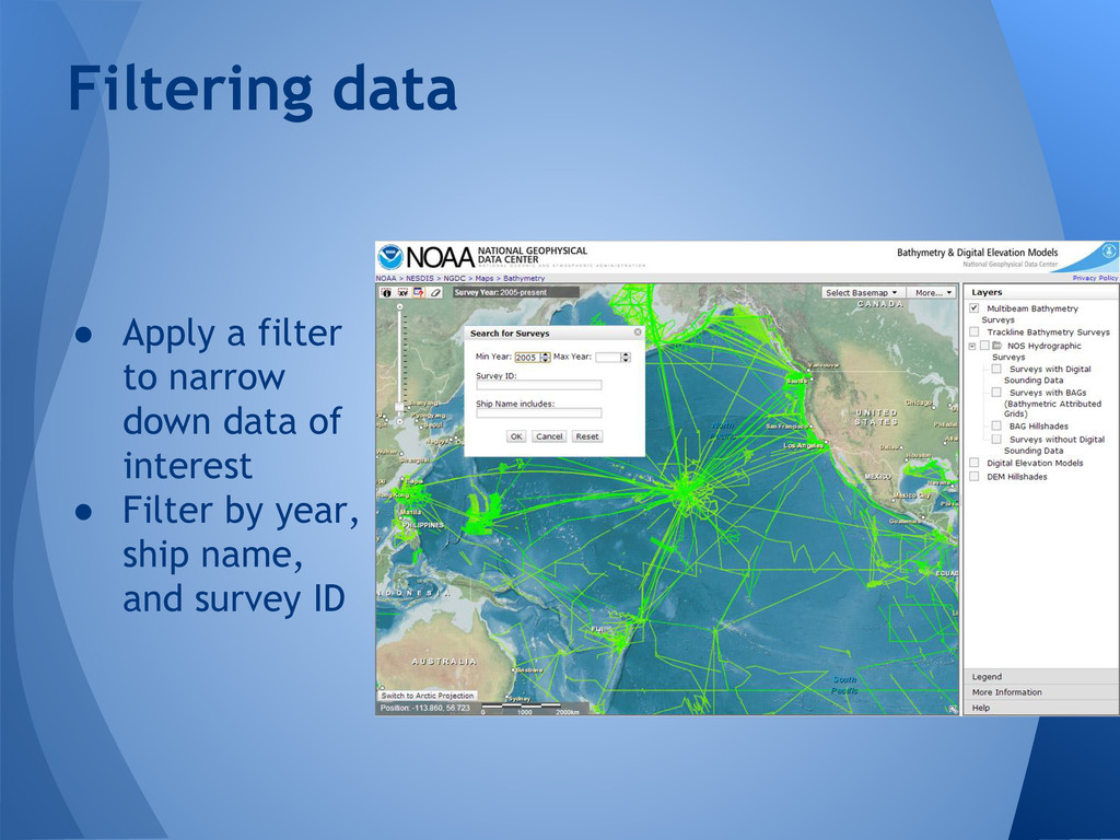 ● Apply a filter to narrow down data of interes...