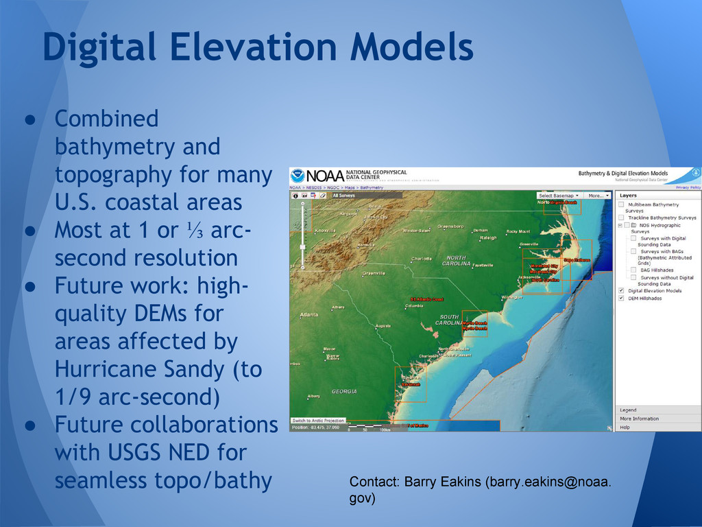 ● Combined bathymetry and topography for many U...