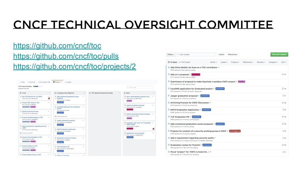 CNCF Technical Oversight Committee https://gith...