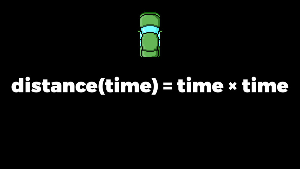 distance(time) = time × time