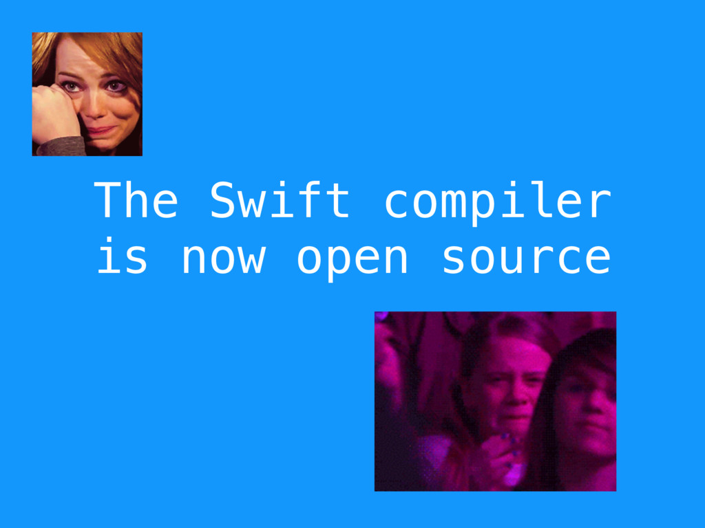 The Swift compiler is now open source
