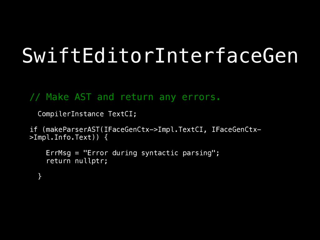 // Make AST and return any errors.