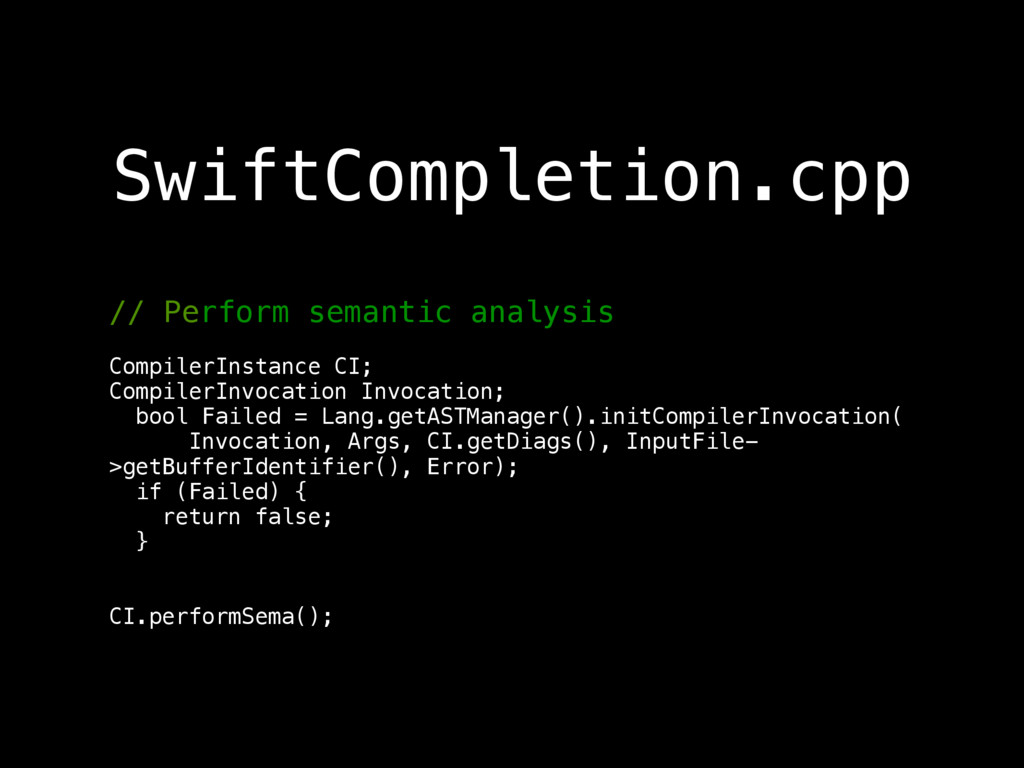 // Perform semantic analysis