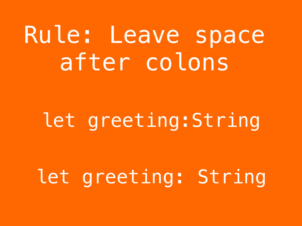 let greeting:String