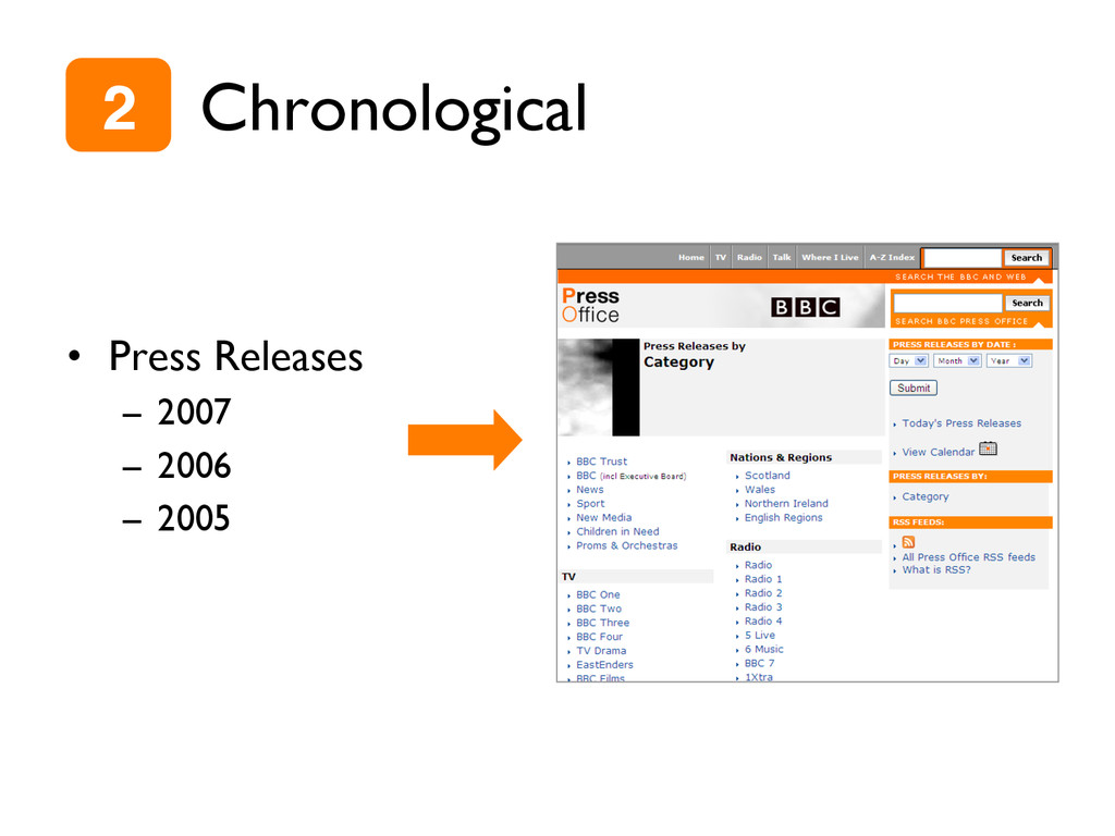 Chronological •  Press Releases –  2007 –  2006...