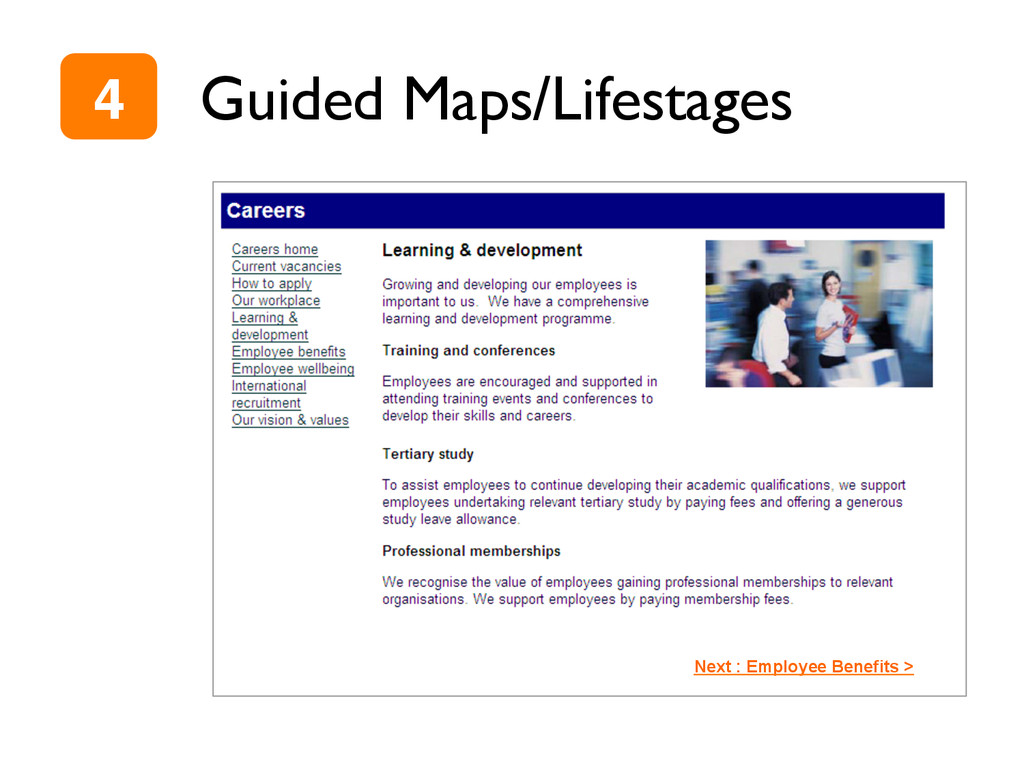 Guided Maps/Lifestages Next : Employee Benefits...