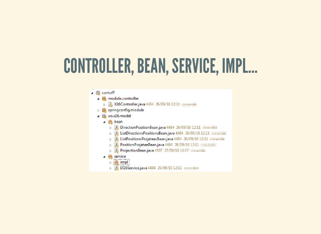 CONTROLLER, BEAN, SERVICE, IMPL…