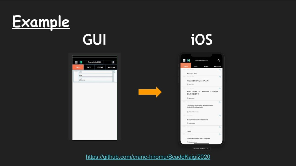 GUI iOS Example https://github.com/crane-hiromu...