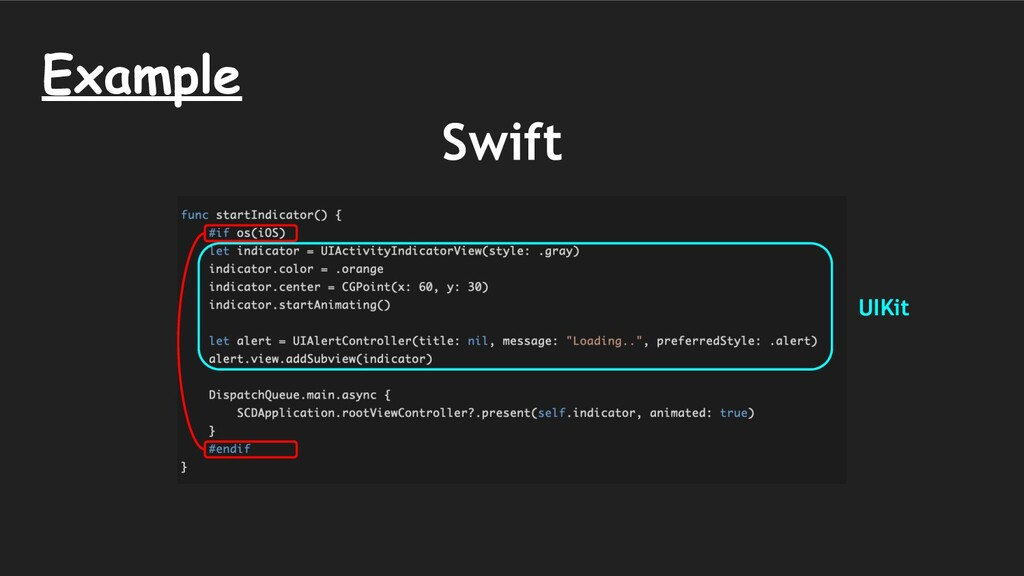 Example Swift UIKit