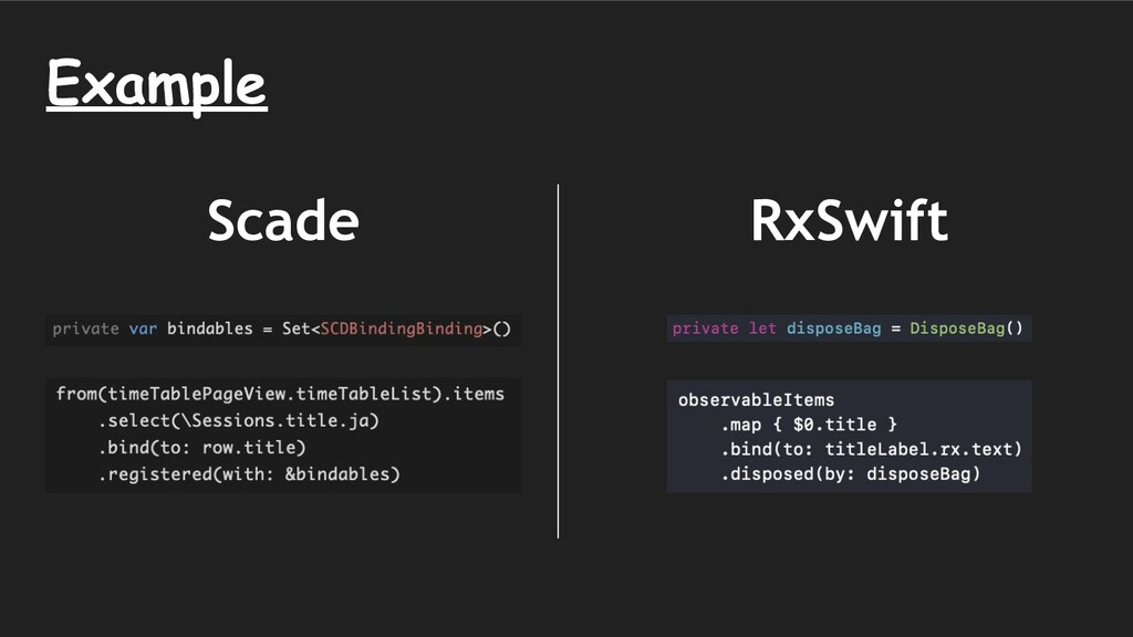 RxSwift Scade Example
