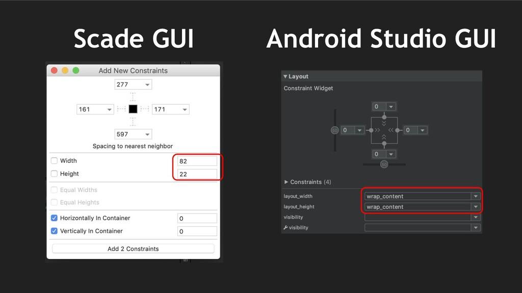 Android Studio GUI Scade GUI