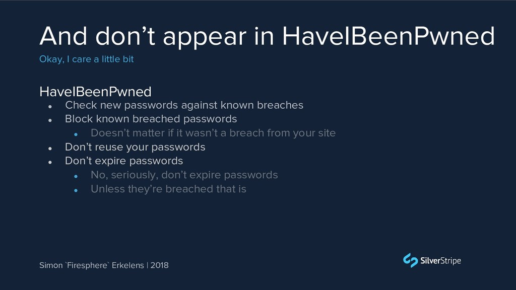 HaveIBeenPwned And don't appear in HaveIBeenPwn...