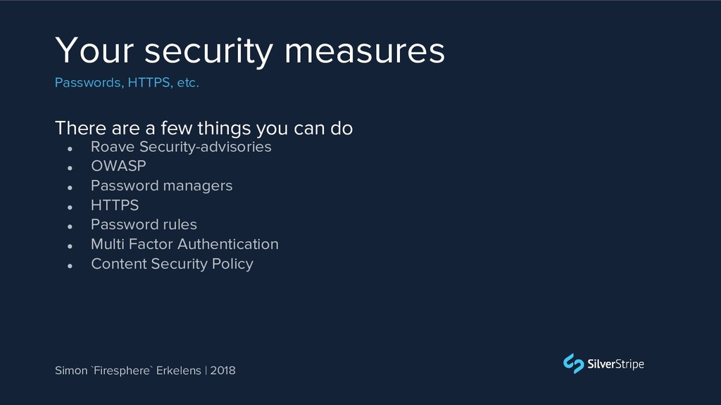 There are a few things you can do Your security...