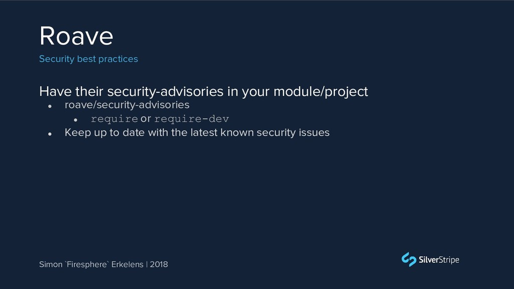 Have their security-advisories in your module/p...