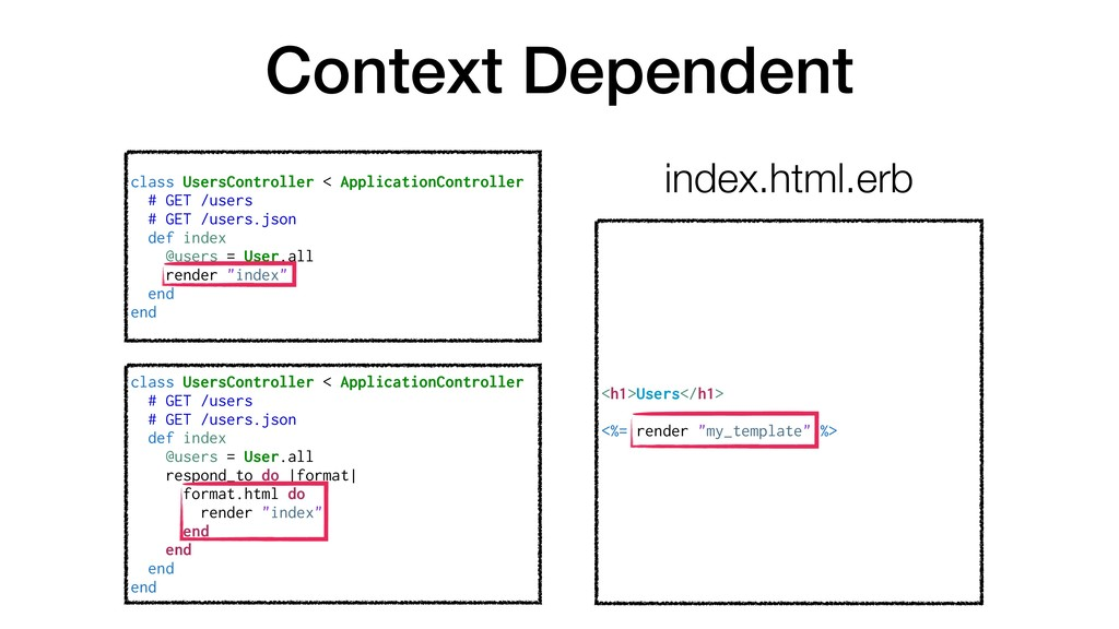 """Context Dependent <h1>Users</h1> <%= render """"my..."""