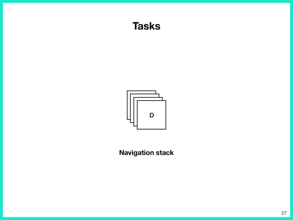 Tasks AB CD Navigation stack 27