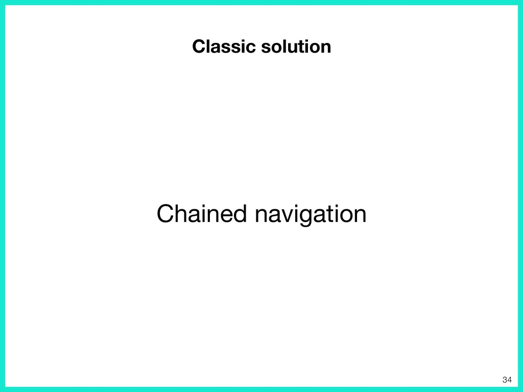 Classic solution Chained navigation 34