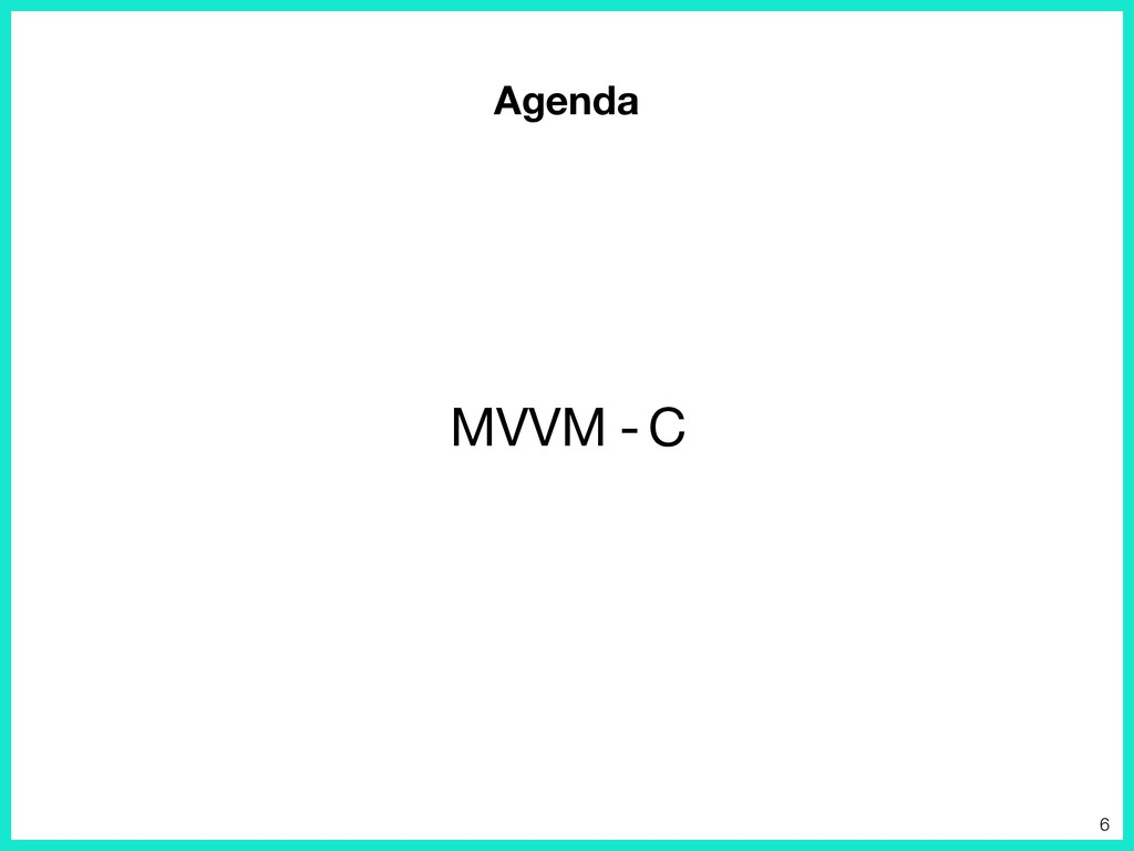 Agenda MVVM C - 6