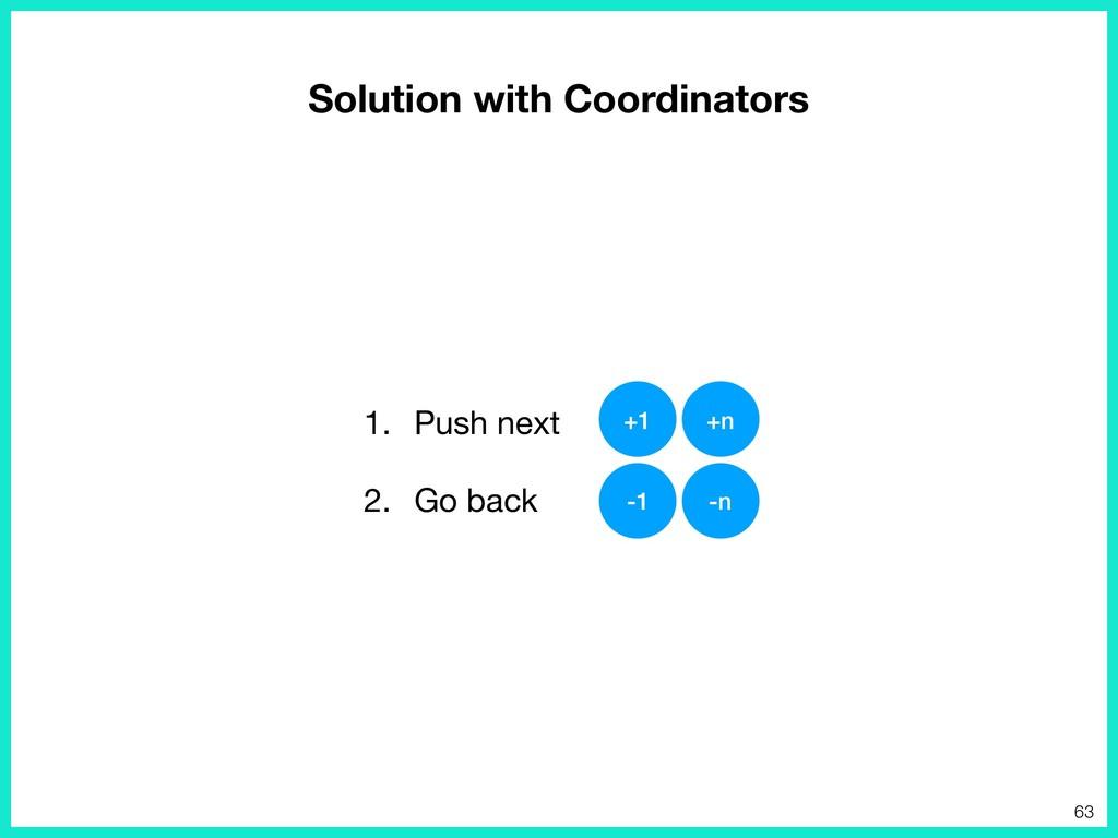 Solution with Coordinators 1. Push next  2. Go ...