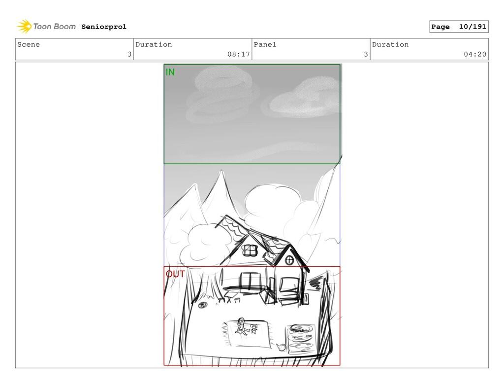 Scene 3 Duration 08:17 Panel 3 Duration 04:20 S...