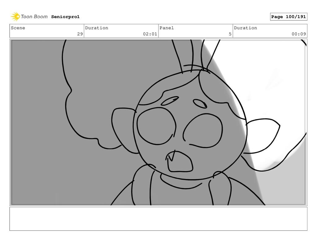 Scene 29 Duration 02:01 Panel 5 Duration 00:09 ...