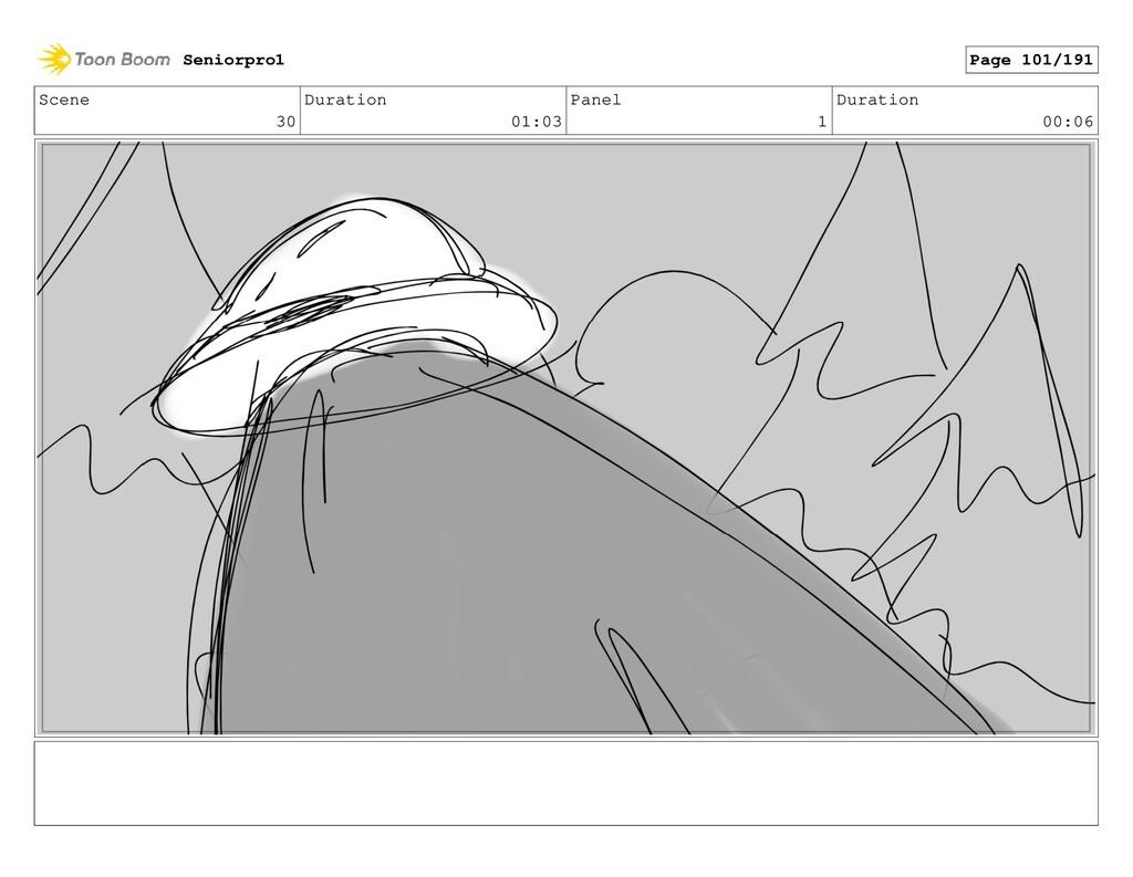 Scene 30 Duration 01:03 Panel 1 Duration 00:06 ...