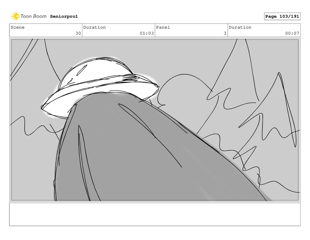 Scene 30 Duration 01:03 Panel 3 Duration 00:07 ...