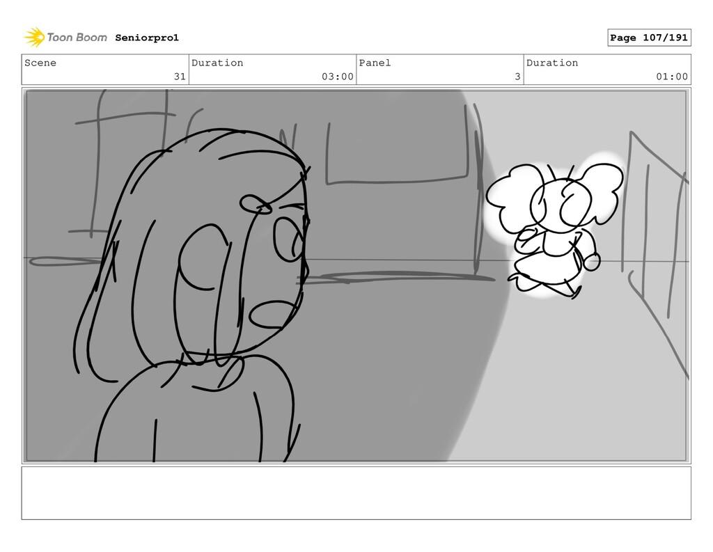 Scene 31 Duration 03:00 Panel 3 Duration 01:00 ...