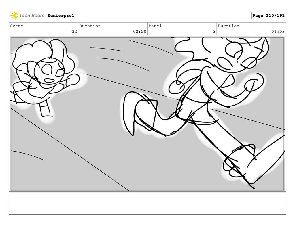 Scene 32 Duration 02:20 Panel 3 Duration 01:03 ...