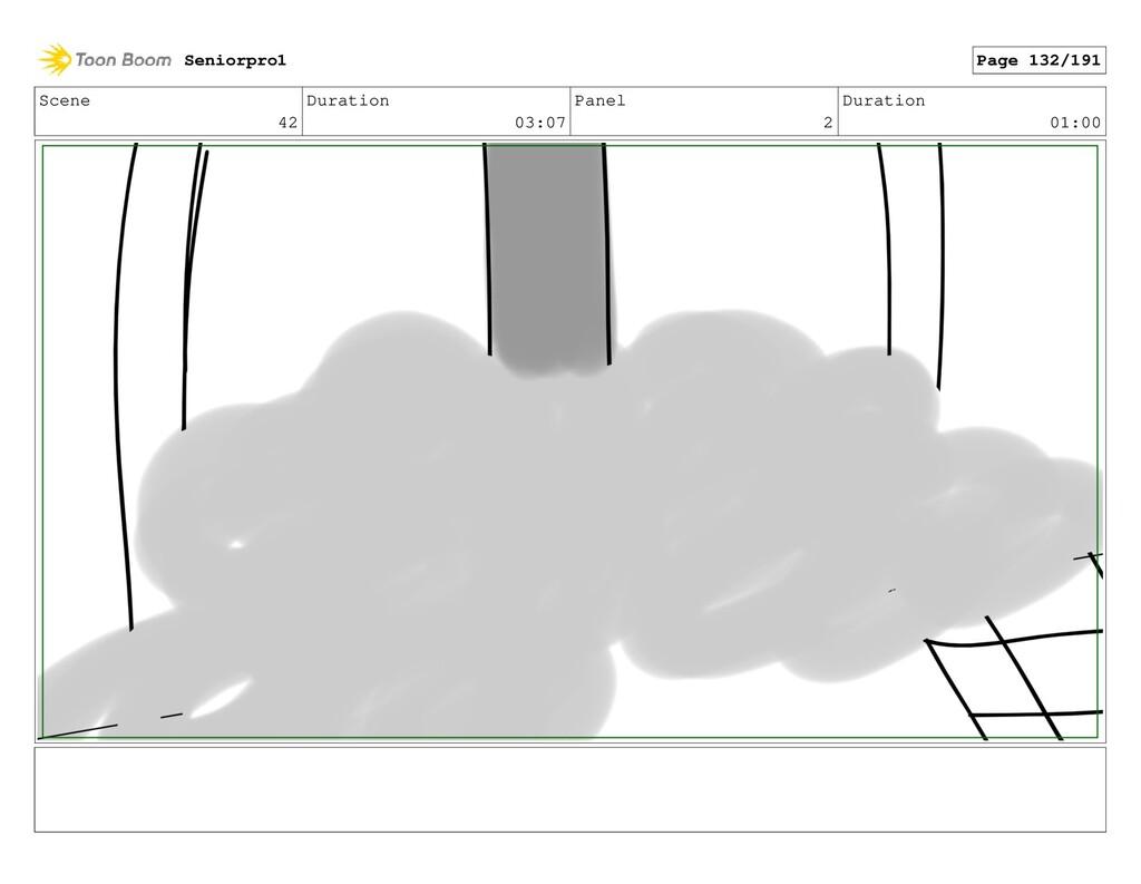 Scene 42 Duration 03:07 Panel 2 Duration 01:00 ...