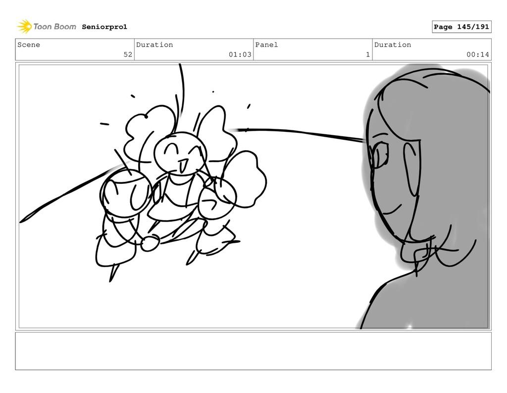 Scene 52 Duration 01:03 Panel 1 Duration 00:14 ...