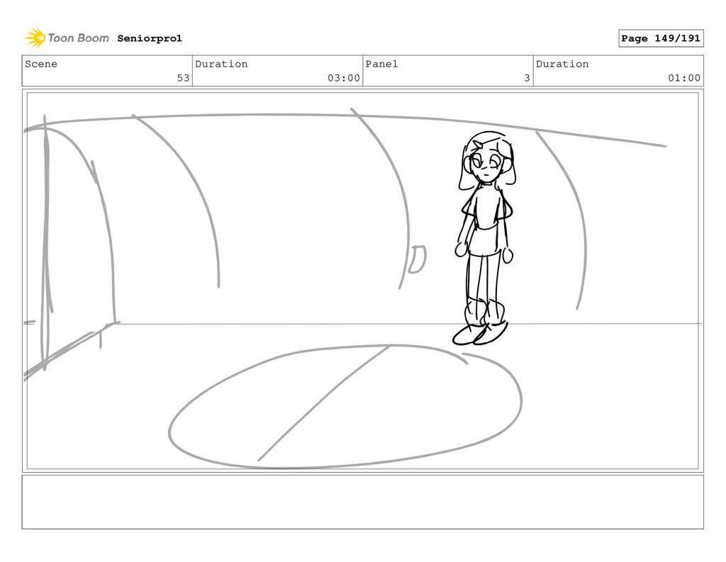 Scene 53 Duration 03:00 Panel 3 Duration 01:00 ...