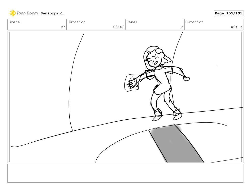 Scene 55 Duration 03:08 Panel 3 Duration 00:13 ...