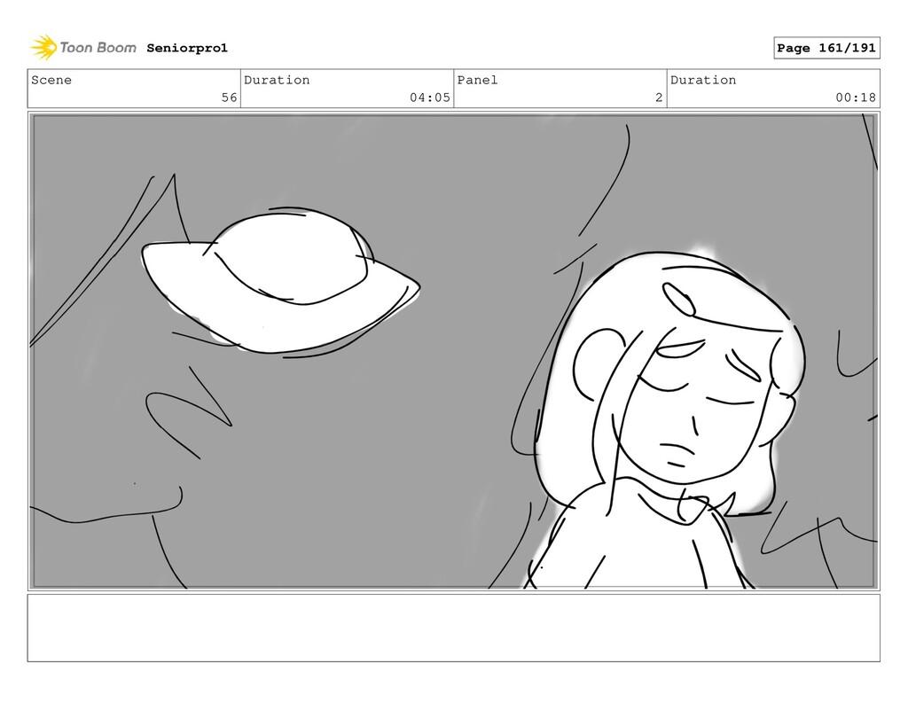 Scene 56 Duration 04:05 Panel 2 Duration 00:18 ...