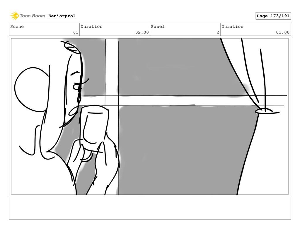 Scene 61 Duration 02:00 Panel 2 Duration 01:00 ...