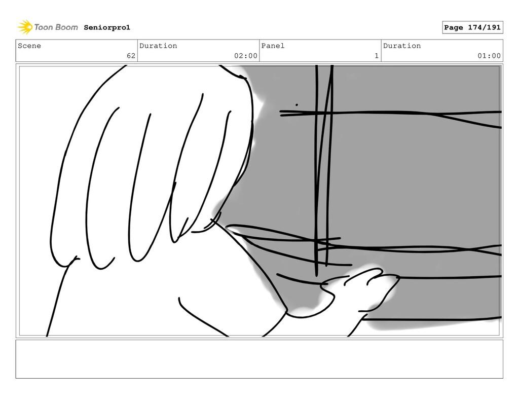 Scene 62 Duration 02:00 Panel 1 Duration 01:00 ...