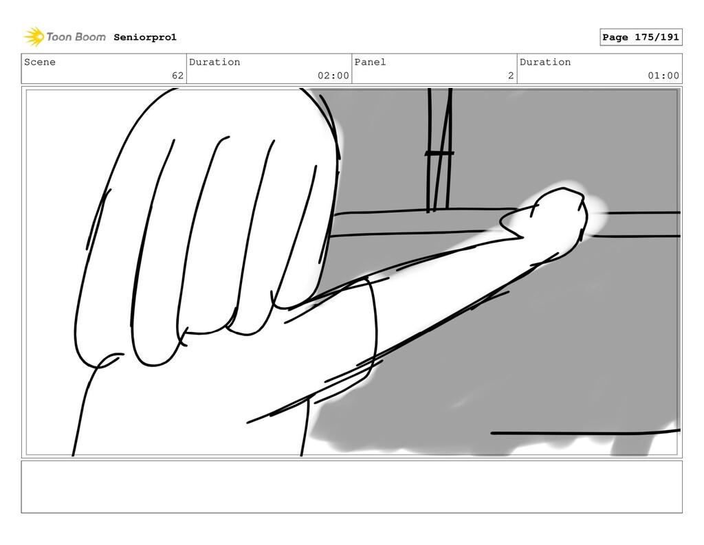 Scene 62 Duration 02:00 Panel 2 Duration 01:00 ...