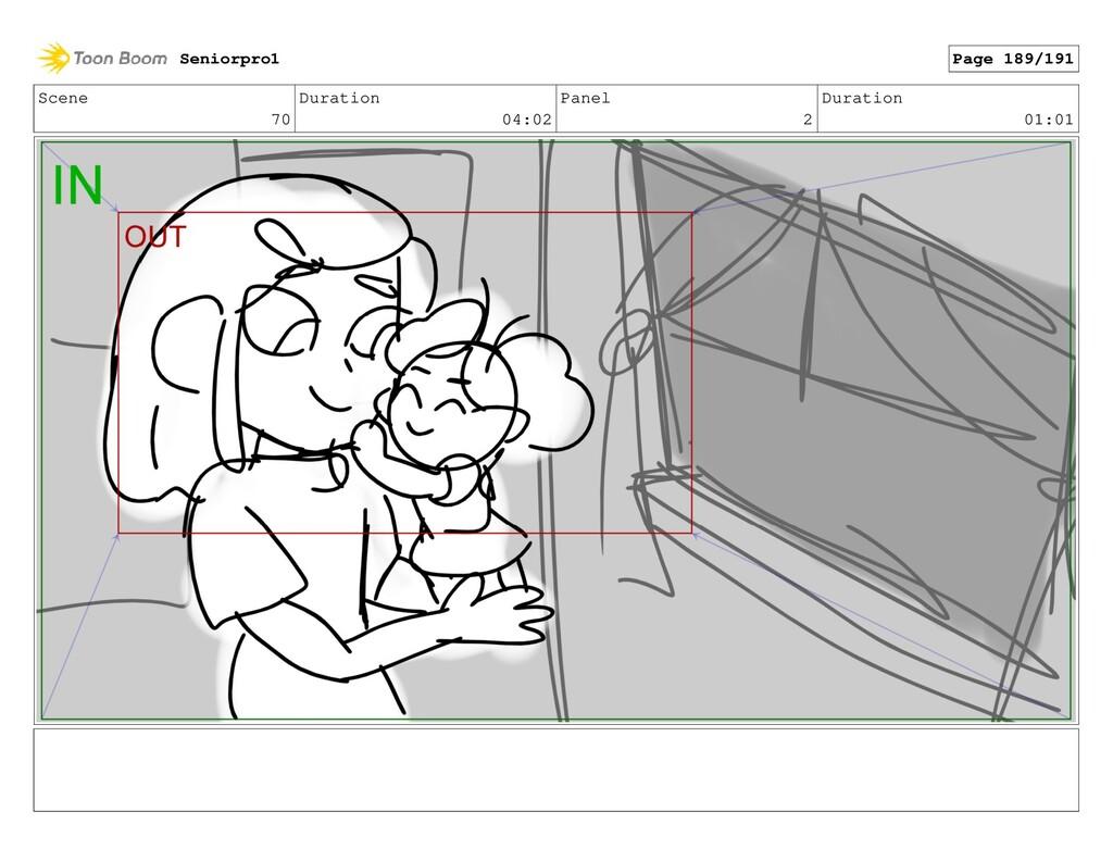 Scene 70 Duration 04:02 Panel 2 Duration 01:01 ...