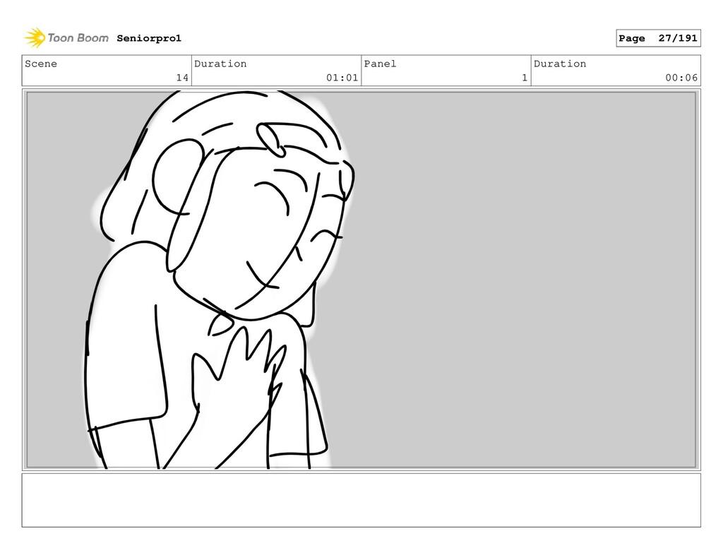 Scene 14 Duration 01:01 Panel 1 Duration 00:06 ...