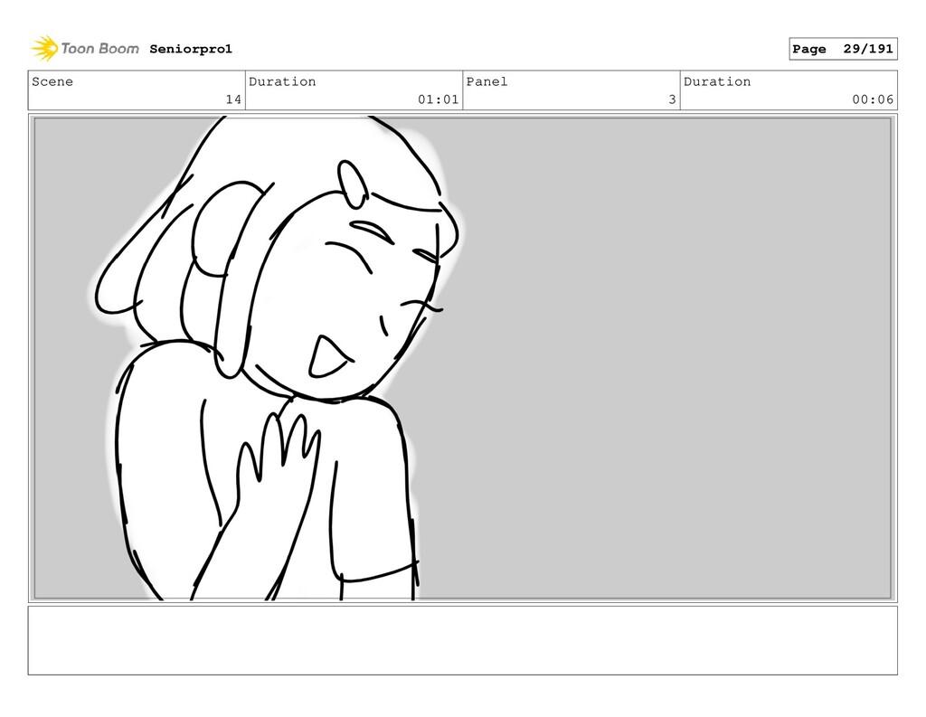Scene 14 Duration 01:01 Panel 3 Duration 00:06 ...
