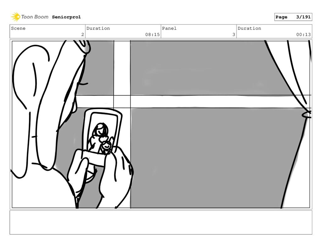 Scene 2 Duration 08:15 Panel 3 Duration 00:13 S...