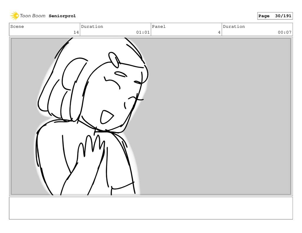 Scene 14 Duration 01:01 Panel 4 Duration 00:07 ...