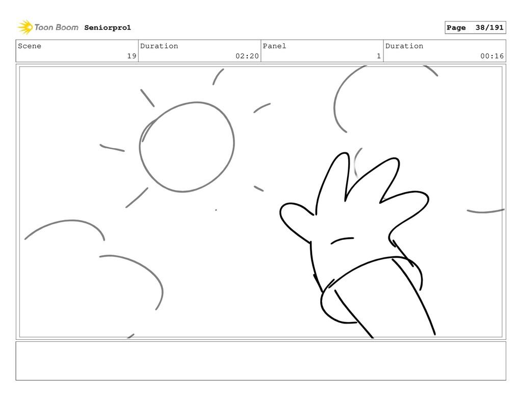 Scene 19 Duration 02:20 Panel 1 Duration 00:16 ...