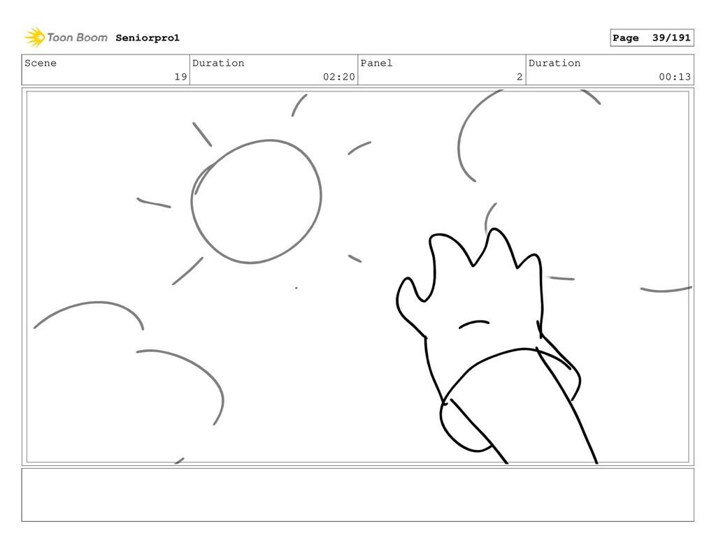 Scene 19 Duration 02:20 Panel 2 Duration 00:13 ...