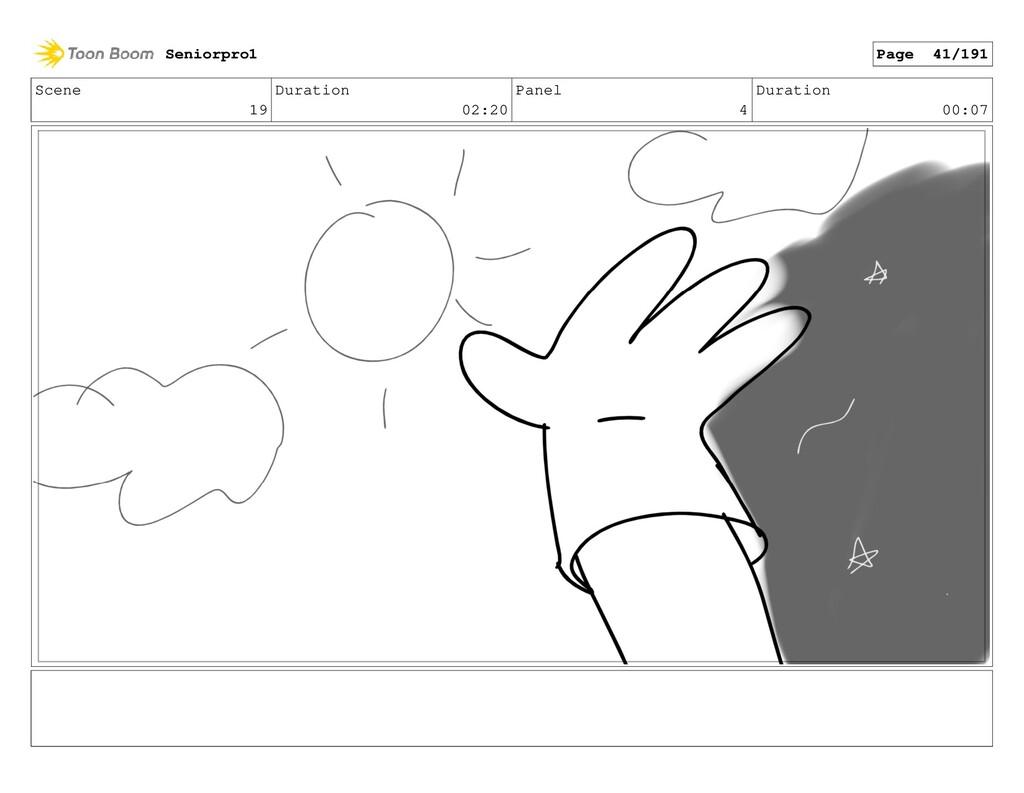 Scene 19 Duration 02:20 Panel 4 Duration 00:07 ...