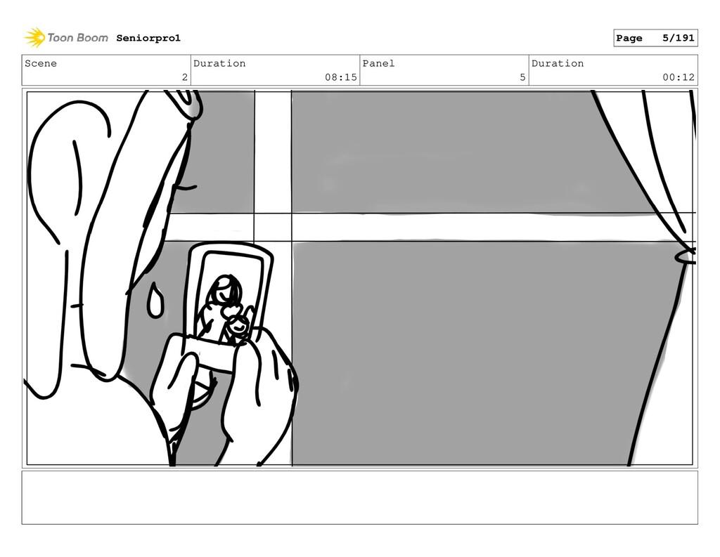 Scene 2 Duration 08:15 Panel 5 Duration 00:12 S...
