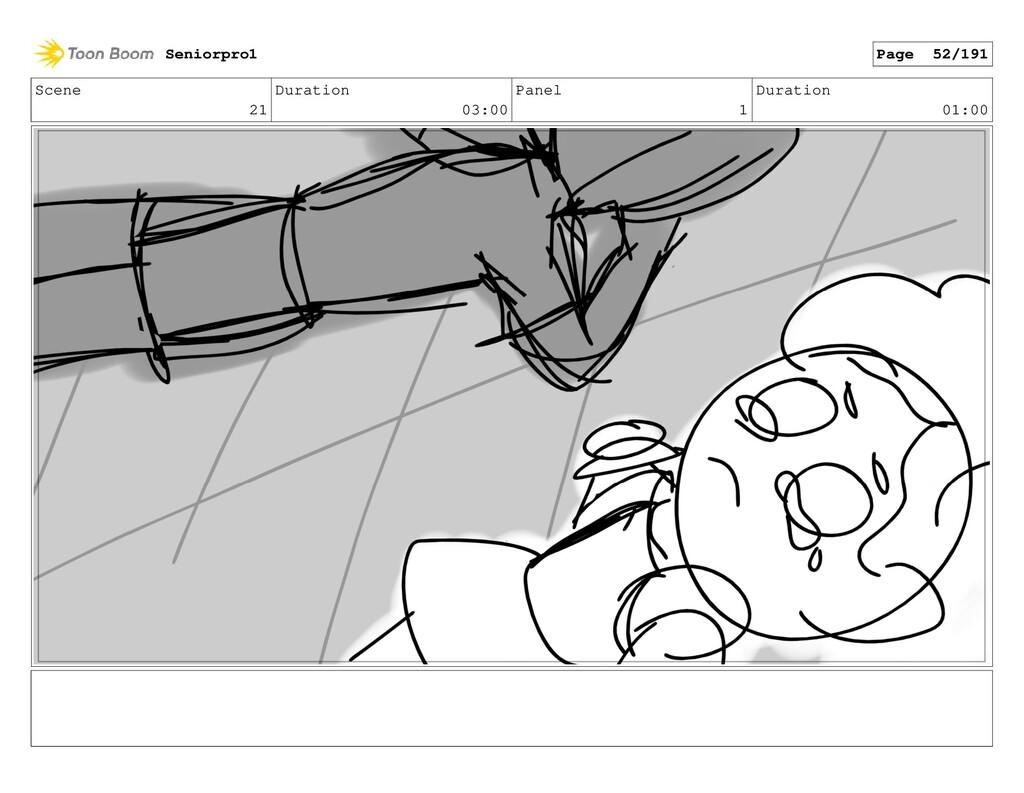 Scene 21 Duration 03:00 Panel 1 Duration 01:00 ...