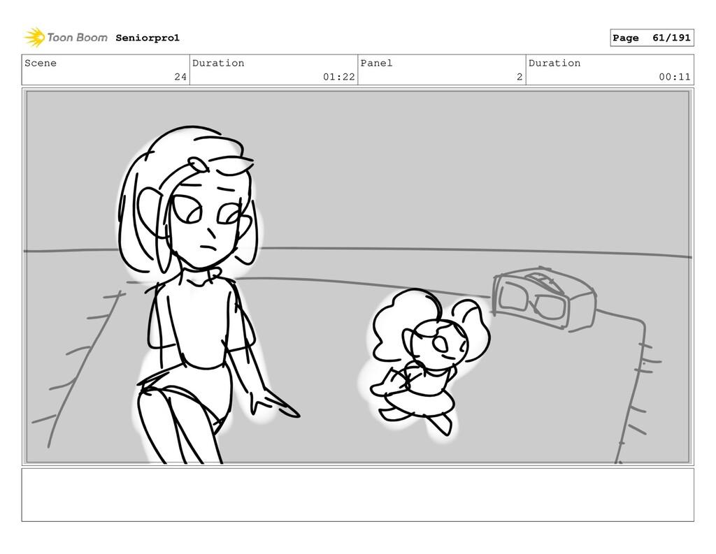 Scene 24 Duration 01:22 Panel 2 Duration 00:11 ...