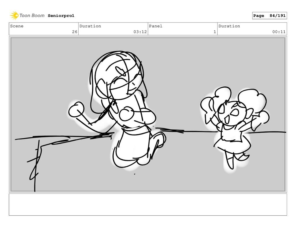 Scene 26 Duration 03:12 Panel 1 Duration 00:11 ...