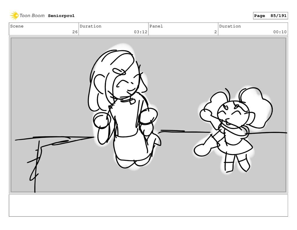 Scene 26 Duration 03:12 Panel 2 Duration 00:10 ...